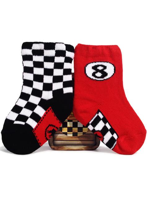 Calcetines de piloto de carreras para bebé