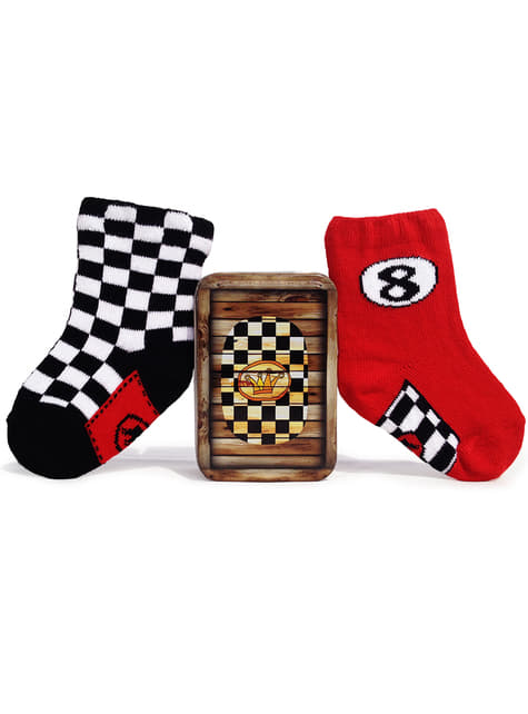 Calcetines de piloto de carreras para bebé - para tu disfraz