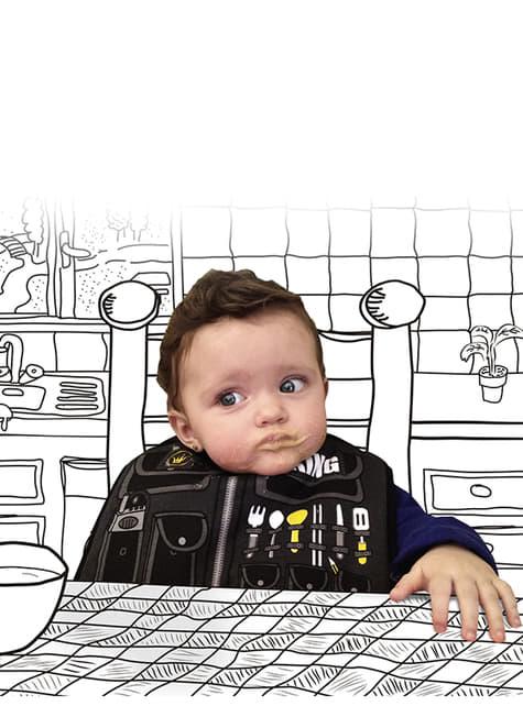 Bavoir Swat bébé