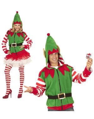 Grote maat Kerstelf jas voor volwassenen