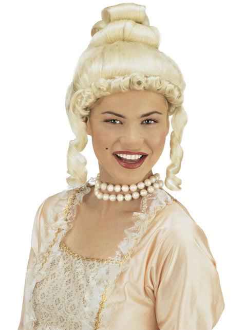 Peluca de época rubia para mujer - para tu disfraz