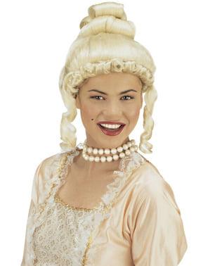 Perruque époque blonde femme