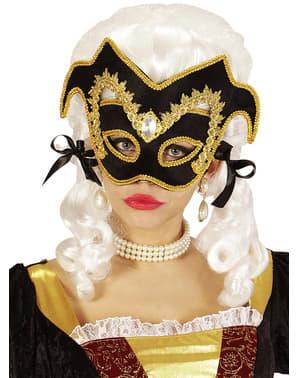 Mascherina da nobile veneziano con gemma e cinta per adulto