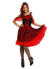 Dámský kostým tanečnice kankánu aecbd6e5003