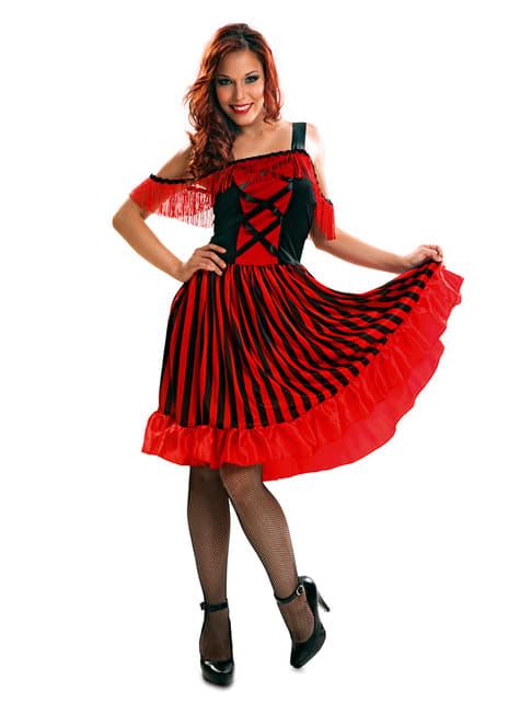Can-Can Tänzerin Kostüm für Damen