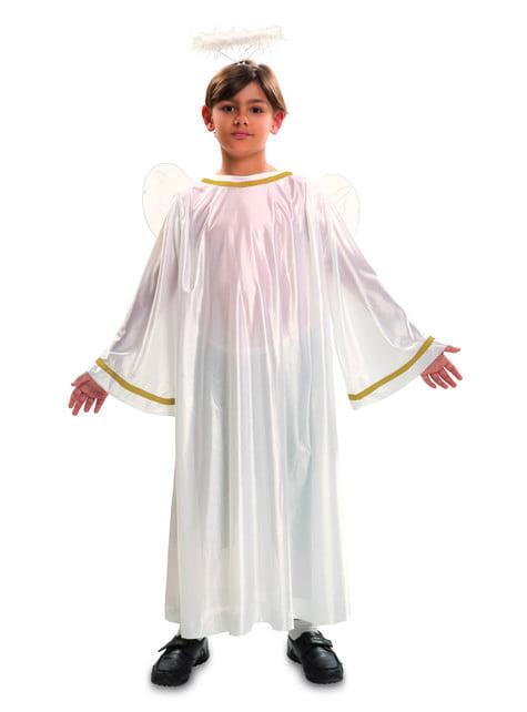 Disfraz de ángel navideño blanco infantil