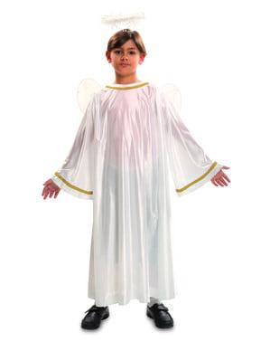 Costum de înger de Crăciun alb pentru copii