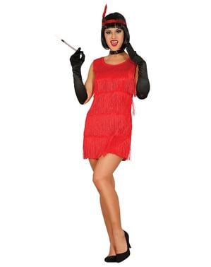Disfraz de charlestón rojo para mujer
