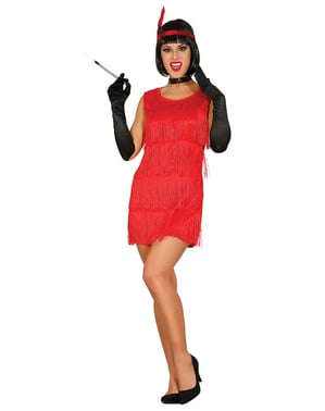 Womens Red Charleston Costume