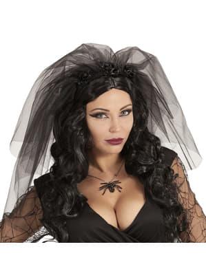 Velo de novia muerta para mujer