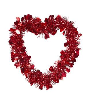 Sankt Valentin-Herz auf Kupferdraht