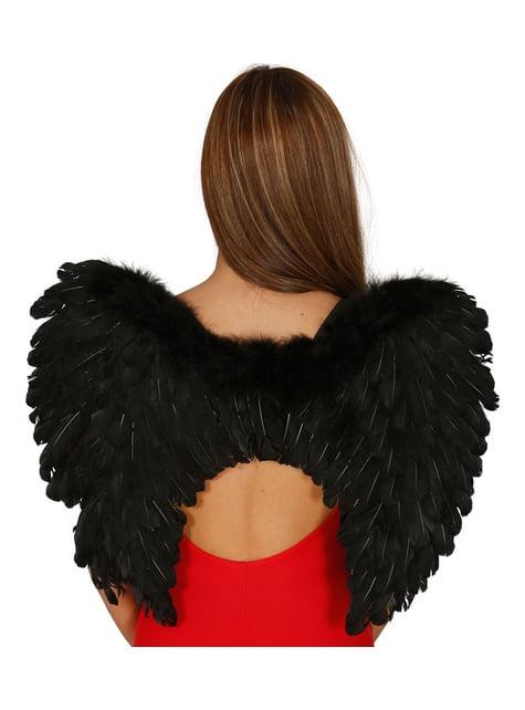 Křídla péřová černá