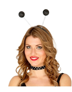 Headband with Frosted Black Balls