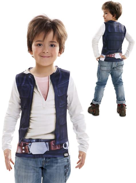 Camiseta de Han Solo hiperrealista para niño
