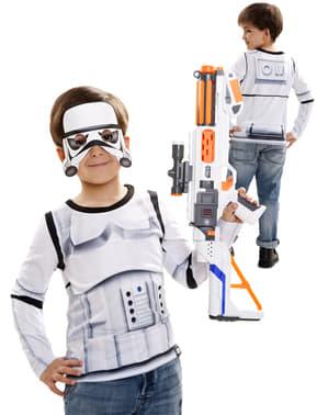 Camisola de Stormtrooper hiper-realista para menino