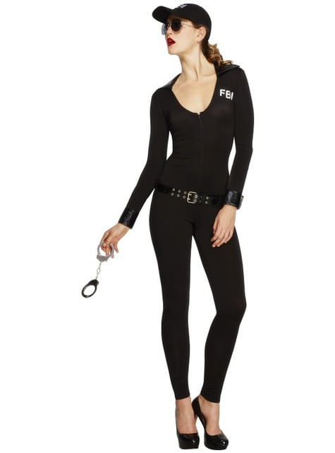 Disfraz de FBI sexy para mujer