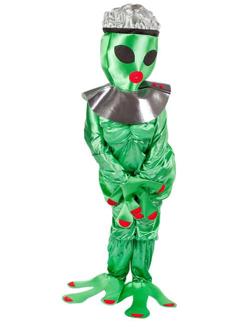 Groen alienkostuum voor vrouw