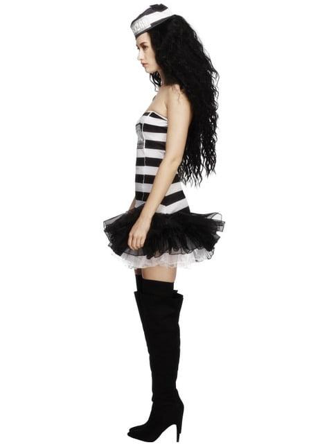Sexy Häftling Kostüm für Damen