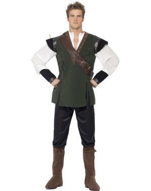 Mutiger Robin des Waldes Kostüm