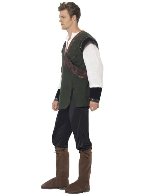 Disfraz de valiente Robin de los bosques - hombre