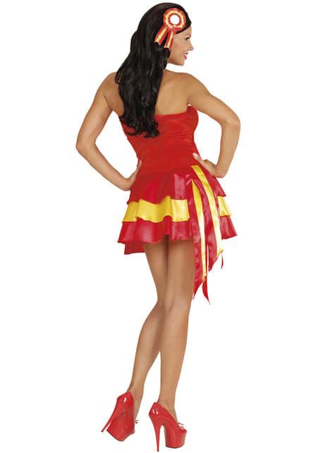 Déguisement pompon girl espagnole femme