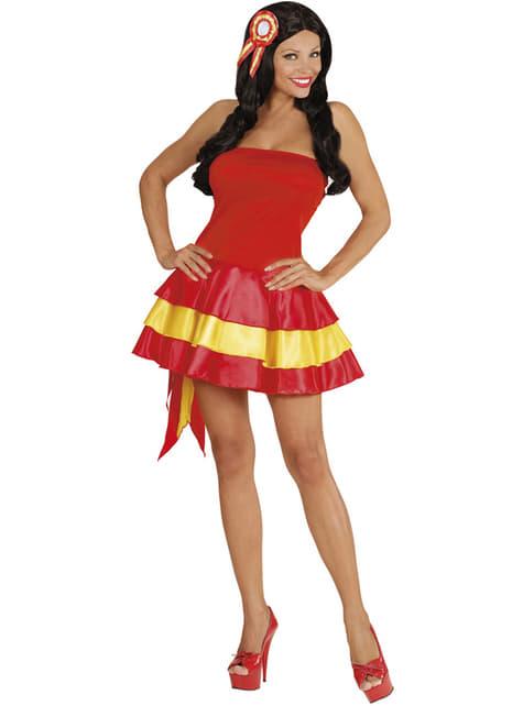 Disfraz de animadora española para mujer