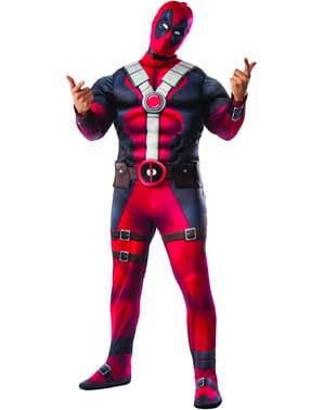 Deadpool Deluxe plus size kostyme for Mann