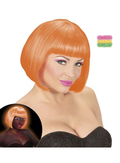 Peluca naranja brillante para mujer - original
