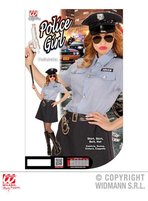 Disfraz de policía clásica para mujer - barato
