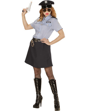 Fato de polícia clássica para mulher tamanho grande