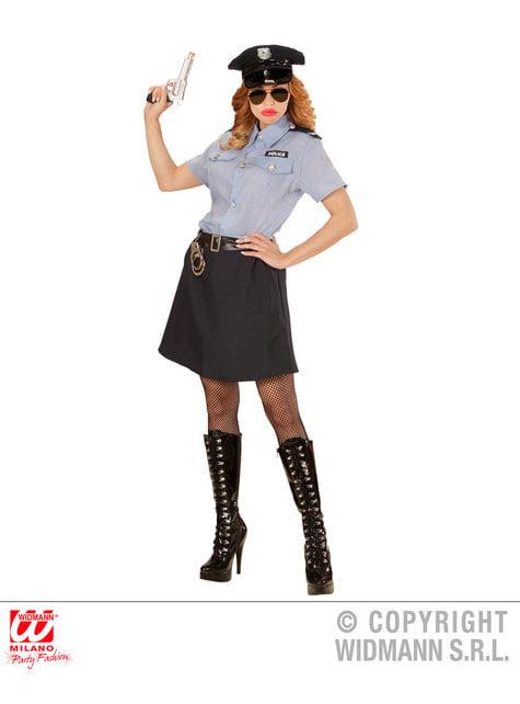 Disfraz de policía clásica para mujer talla grande - original