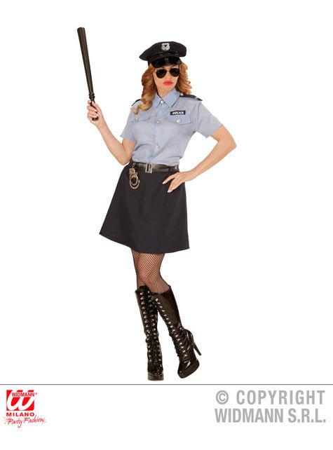 Disfraz de policía clásica para mujer talla grande - traje