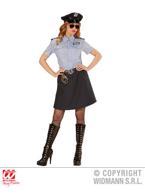 Disfraz de policía clásica para mujer talla grande - Halloween