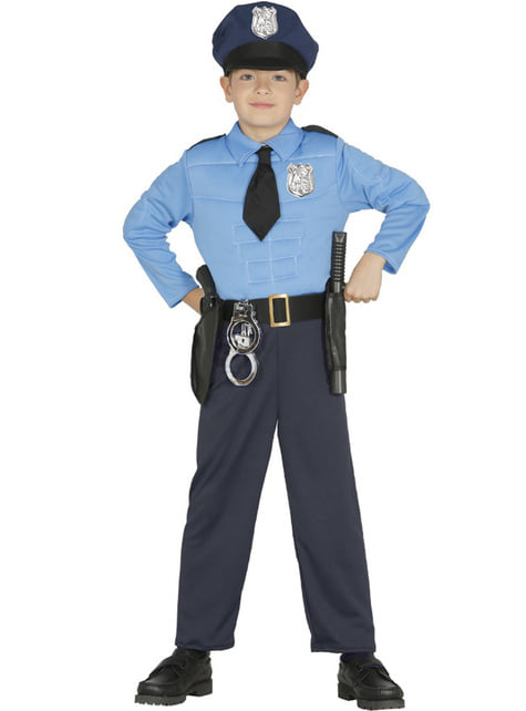 Hardcore Police costume For boy