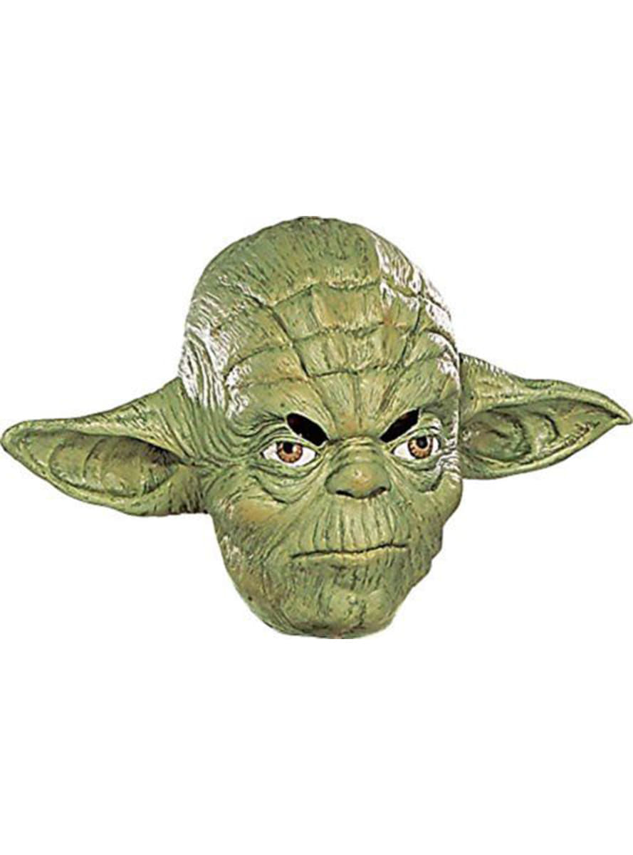 yoda 3 4 maske aus vinyl f r kost m funidelia. Black Bedroom Furniture Sets. Home Design Ideas