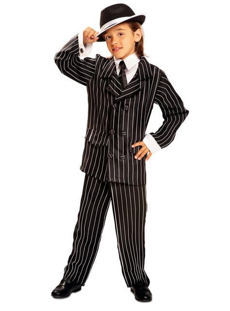 Disfraz de gángster de los años 20 para niño
