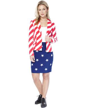 Fato de bandeira dos Estados Unidos para mulher - Opposuits