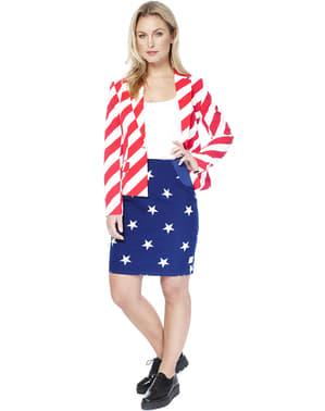Costume Drapeau USA femme - Opposuits