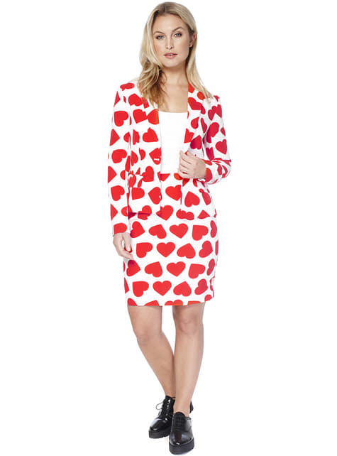 Fato Queen of Hearts Opposuit para mulher