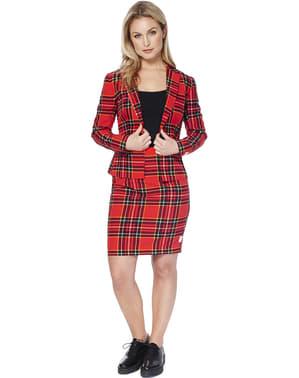 Costum femeie imprimeu scoțian