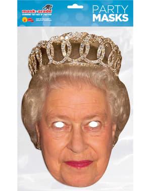 Ansiktsmask Drottning Elisabeth för vuxen