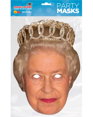 Maschera da Regina Elisabetta II per adulti