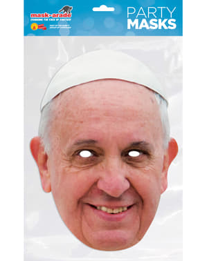 Ansiktsmask Påve Francisco för vuxen