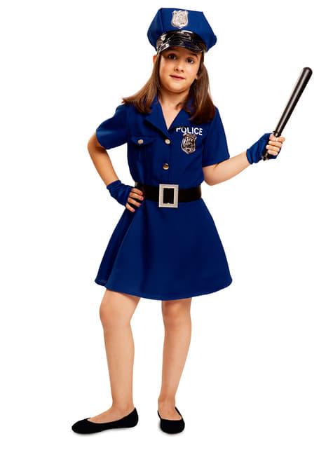Disfraz de policía azul para niña