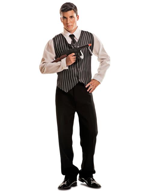 Disfraz de gánster años 20