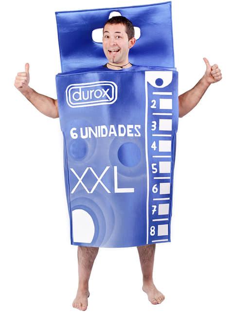Kostým škatuľka kondómov pre dospelých