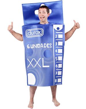 Костюм у вигляді пачки презервативів для дорослих