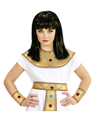 Дівчина Клеопатра перуку з металевими Highlights