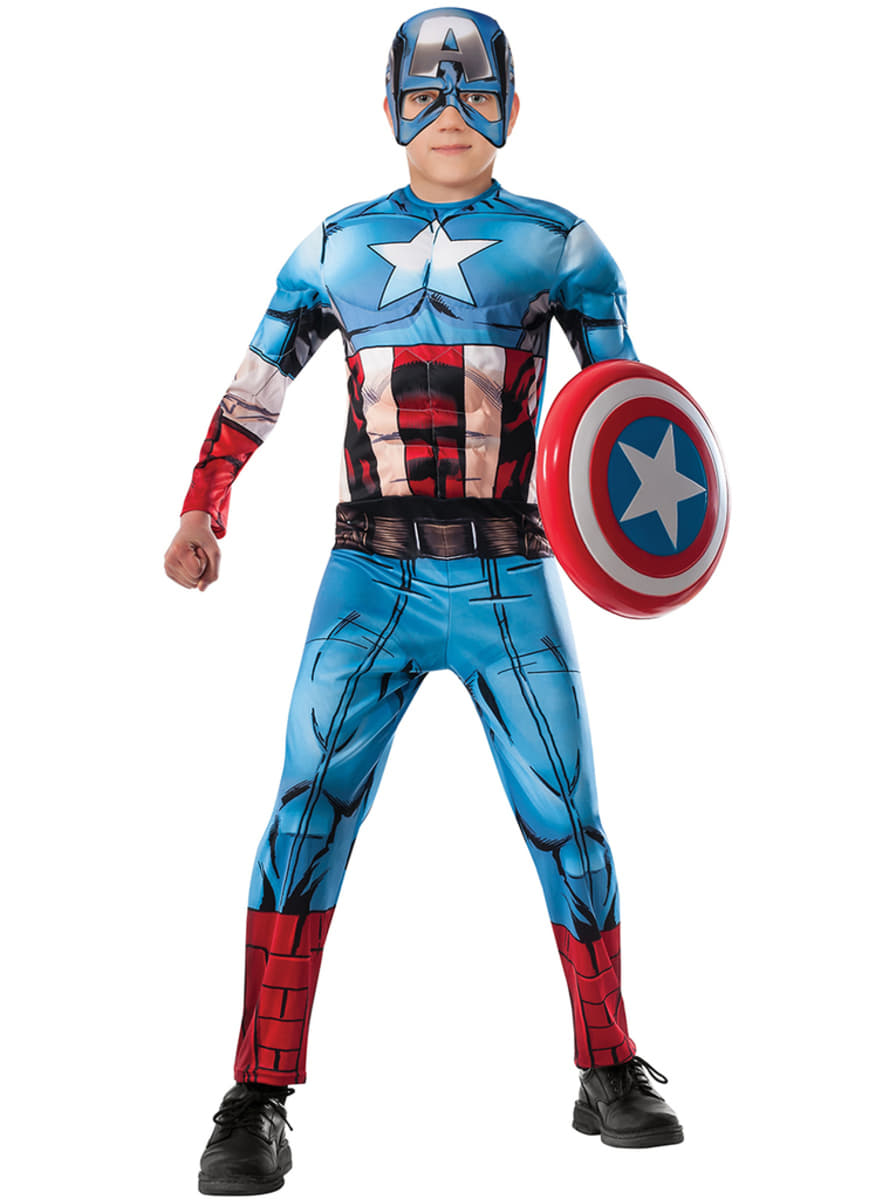 Costume Da Capitan America Vendicatori Uniti Deluxe Da