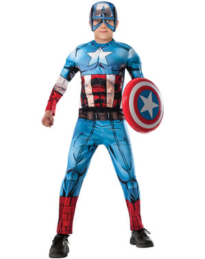 Captain America Avengers Assemble deluxe kostyme for barn